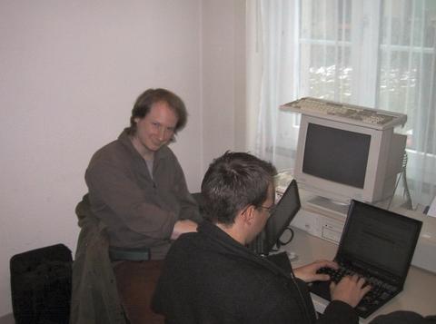 Alan and Bernhard